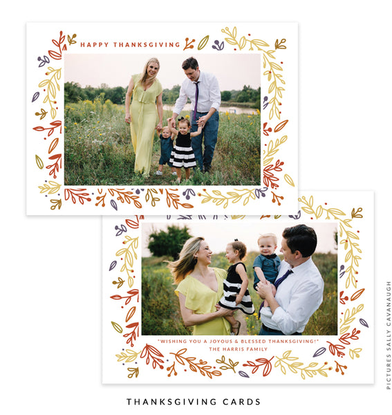 Thanksgiving Photocard Template | Days of Gratitude