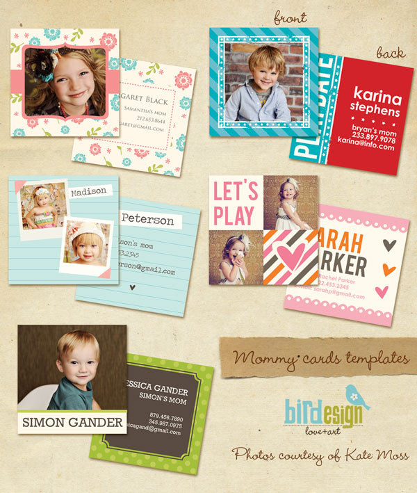 Mommy cards templates