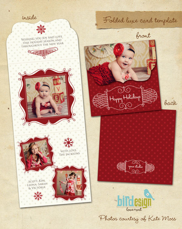 Holiday Ornate Photocard  | Romantic Christmas 5x5