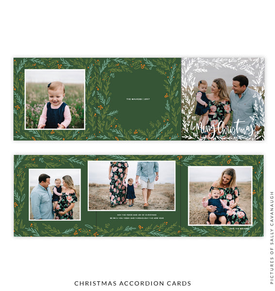 Holiday accordion card 5x5 | Families forever