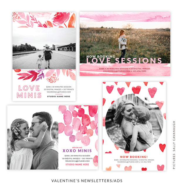 Valentine's Photography Marketing Board Bundle | Love Fragrance