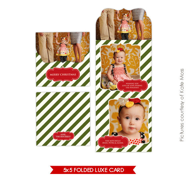 Holiday Ornate Photocard  | Luxe vintage classic