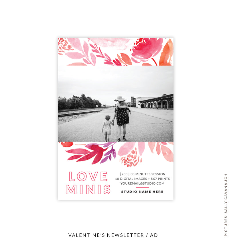 Valentine's Photography Marketing Board | Love Bouquet