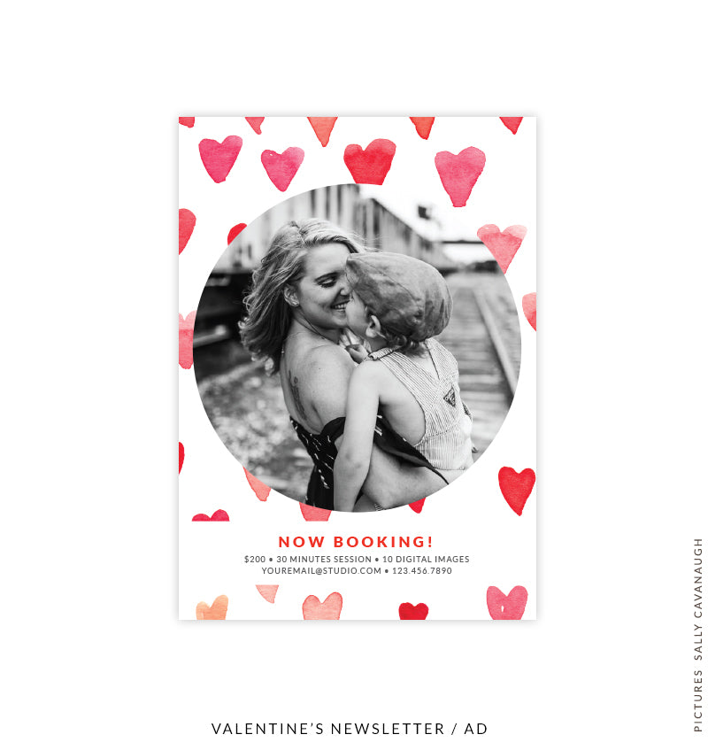 Valentine's Photography Marketing Board | Mini Hearts