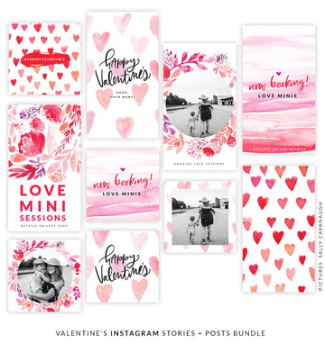 Valentine's Instagram Stories + Posts Bundle | Insta Love