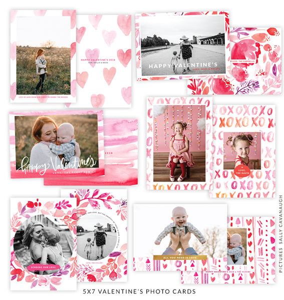 5x7 Valentine's Photo Card Bundle | 2018 Valentine's