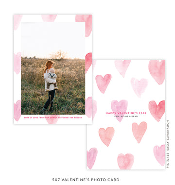 5x7 Valentine's Photo Card | One Heart
