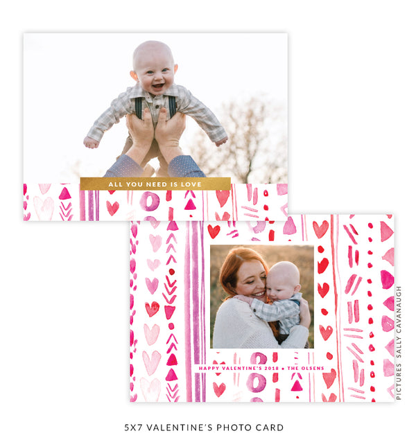 5x7 Valentine's Photo Card | Real Love