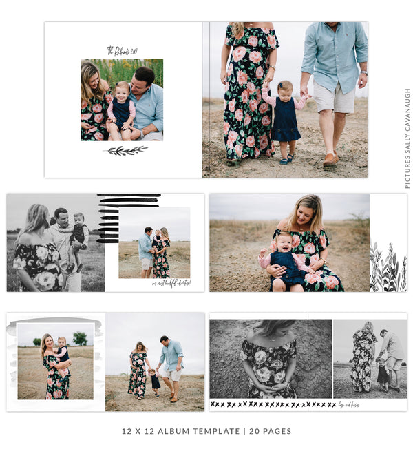 Family Treasure |  12x12 Album template