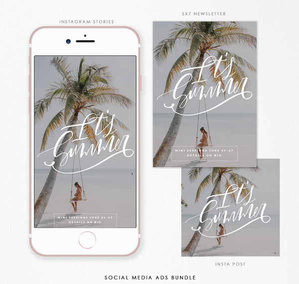 Social Media Ads Bundle (Instagram)  | It's Summer