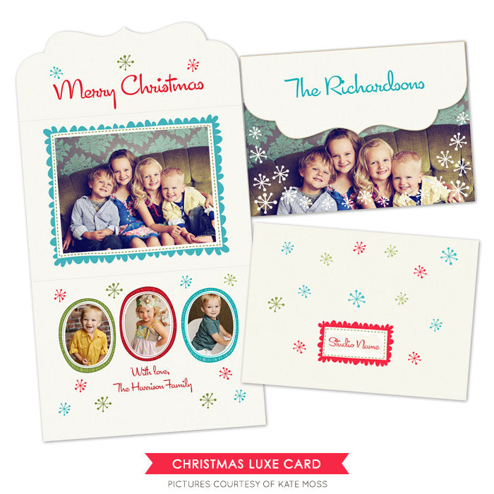 Holiday Ornate Photocard  | Holiday Wishes
