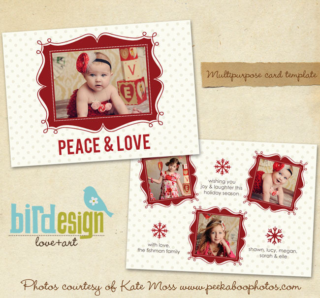 Holiday Photocard | Peace&Love landscape