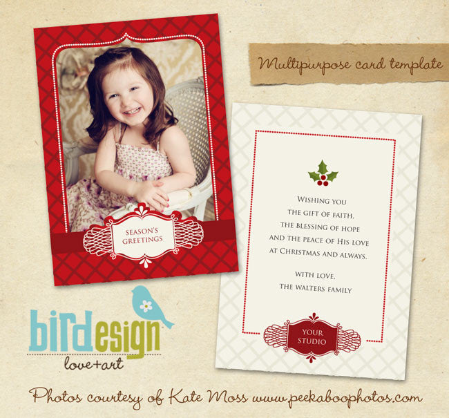 Holiday Photocard Template | Mistletoe