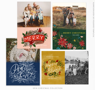 2018 Christmas 5x7 Photo Card Bundle | Magic Lights