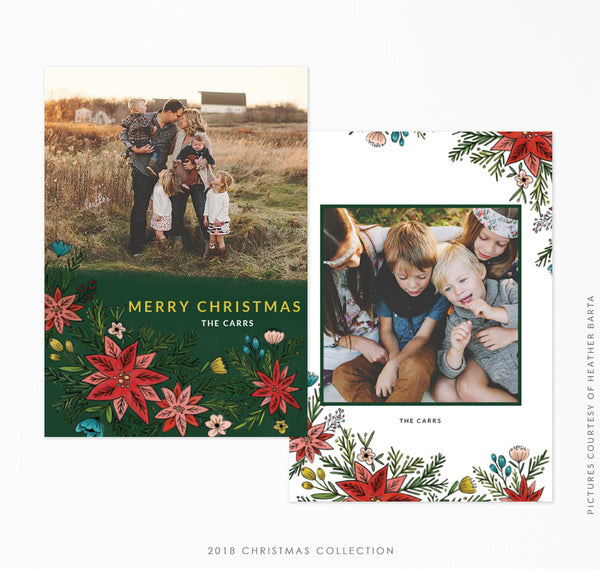 2018 Christmas 5x7 Photo Card | Christmas Foliage
