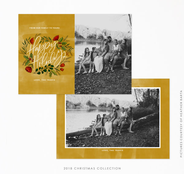2018 Christmas 5x7 Photo Card | Golden Carols
