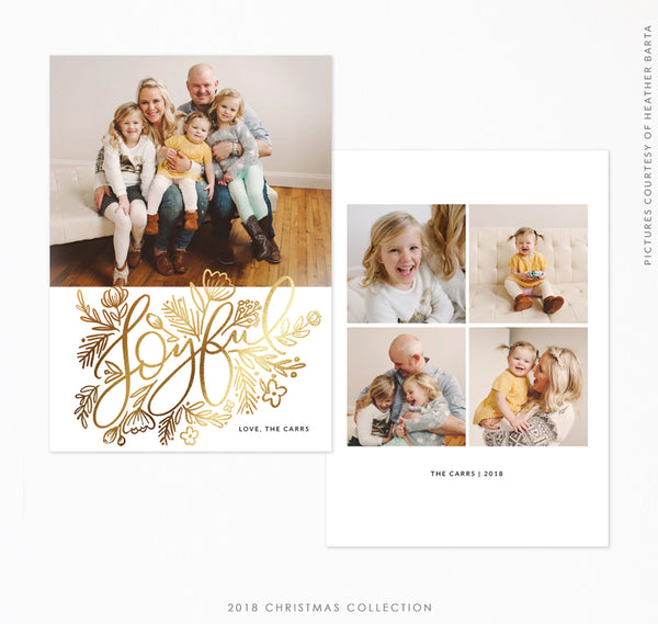 2018 Christmas 5x7 Photo Card | Joyful Season