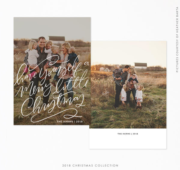 2018 Christmas 5x7 Photo Card | Little Bright Christmas