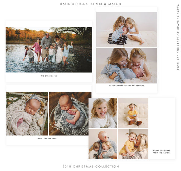 2018 Christmas 5x7 Photo Card Bundle | Christmas Blessings