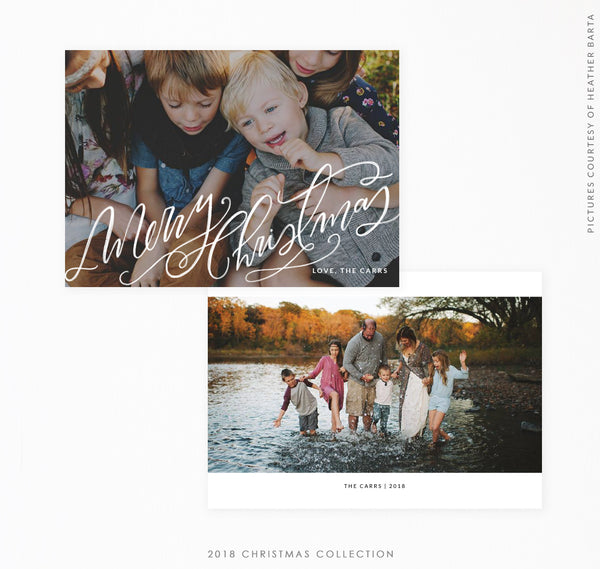 2018 Christmas 5x7 Photo Card | Christmas Splash