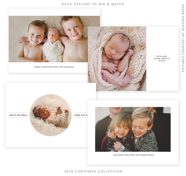 2018 Christmas 5x7 Photo Card Bundle | Reflections of Christmas