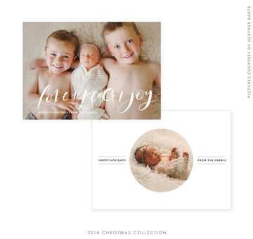 2018 Christmas 5x7 Photo Card | Perfect Love