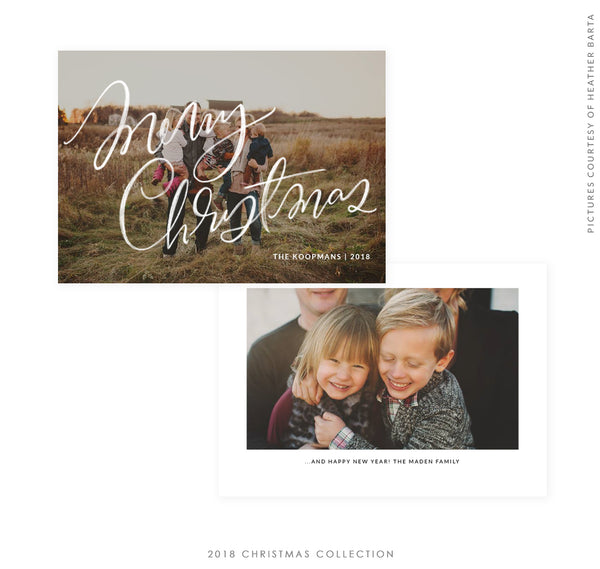 2018 Christmas 5x7 Photo Card | Wishes Come True