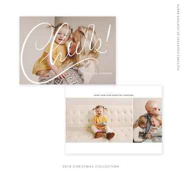 2018 Christmas 5x7 Photo Card | Cheers to You!