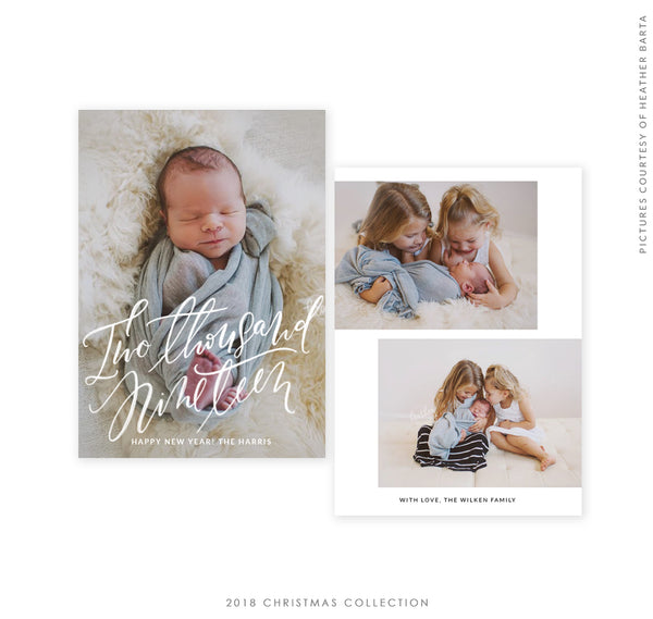 2018 Christmas 5x7 Photo Card | New Year New Joy