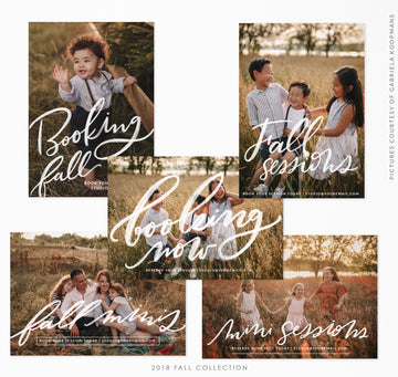 Fall Marketing Board Bundle | Autumn colors
