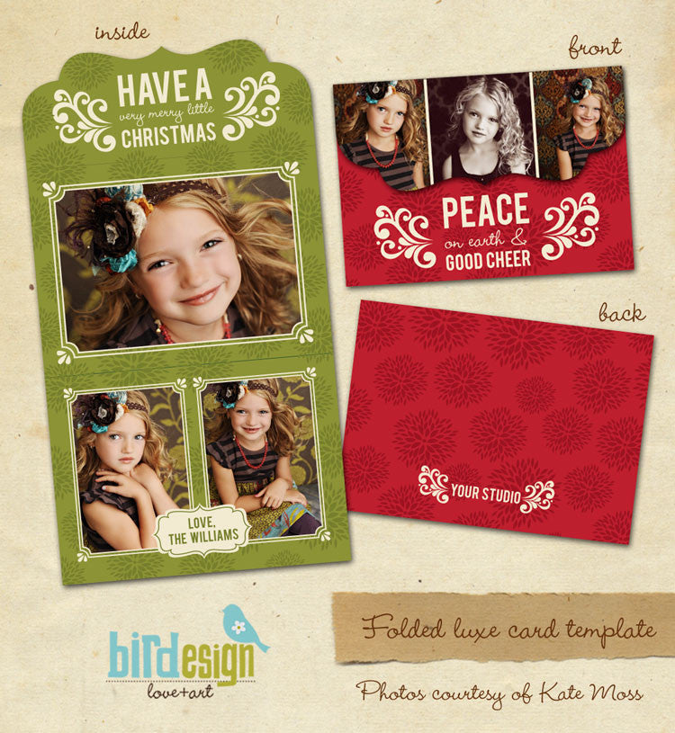 Holiday Ornate Photocard  | Cheer