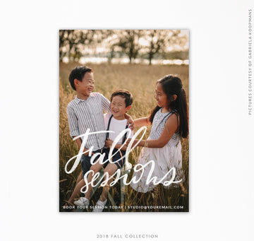 Booking Marketing Ad | Fall sessions