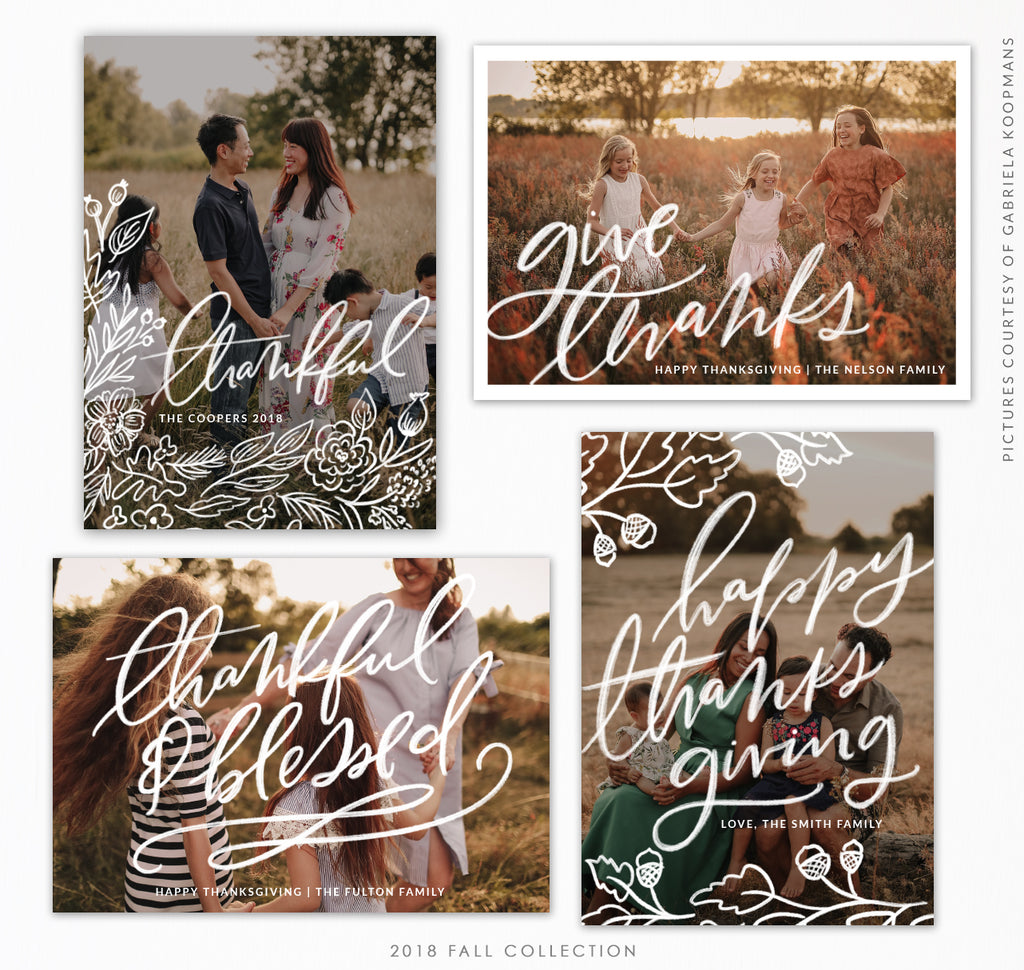 Thanksgiving Photocard Templates Bundle | Fall 2018