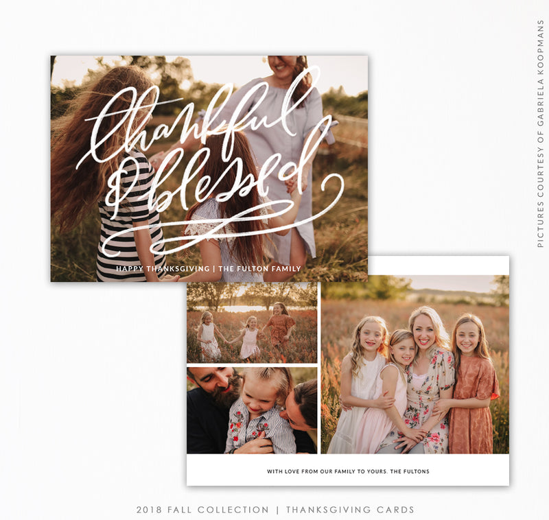 Thanksgiving Card Template | Thankful family
