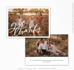 Thanksgiving Card Template | Giving thanks