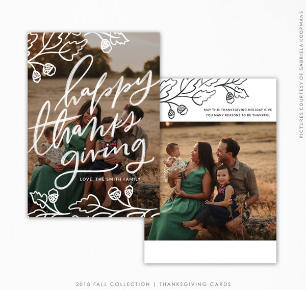 Thanksgiving Card Template | Fall branches