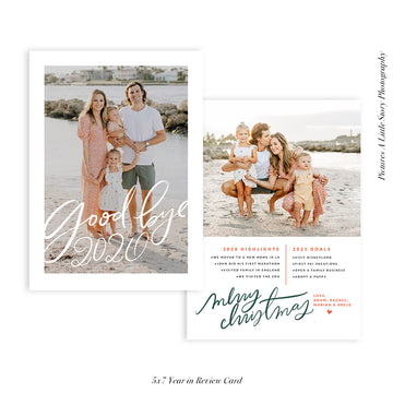 Year in review card Holiday Collection | Goodbye