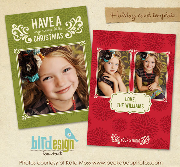 Holiday Photocard Template | Little Christmas