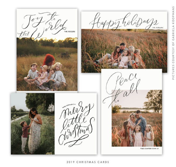 2019 Christmas 5x7 Photo Card Bundle | Holiday Cheers