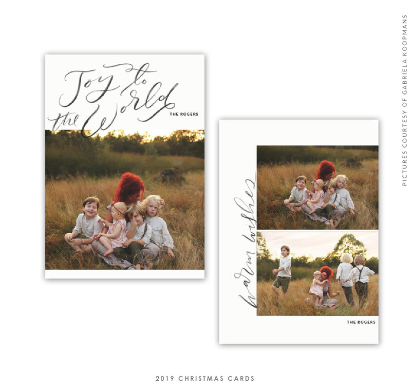 2019 Christmas 5x7 Photo Card | Pure Joy