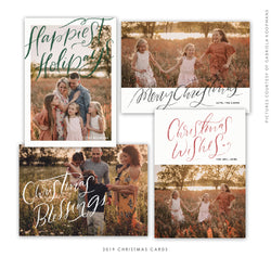 2019 Christmas 5x7 Photo Card Bundle | The Happiest Days