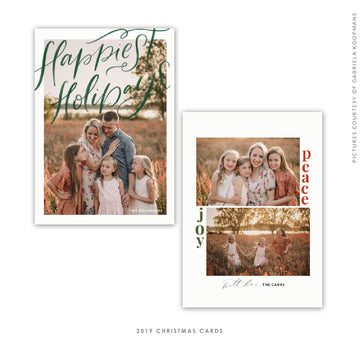 Christmas 5x7 Photo Card | Happiest Holidays Letters