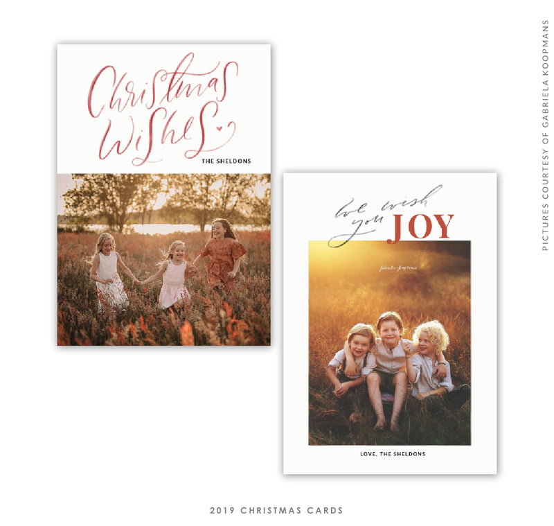 Christmas 5x7 Photo Card | We wish JOY