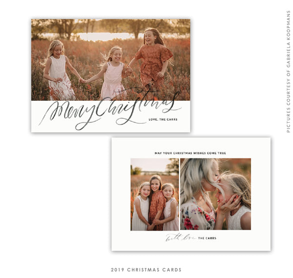 Christmas 5x7 Photo Card | Sisters Magic