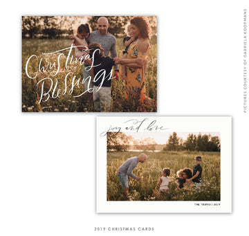 Christmas 5x7 Photo Card | Heaven Blessings