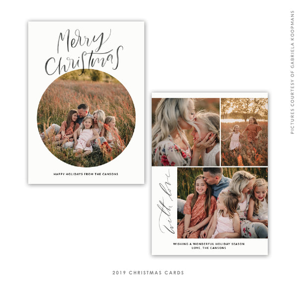 Christmas 5x7 Photo Card | Merry Merry