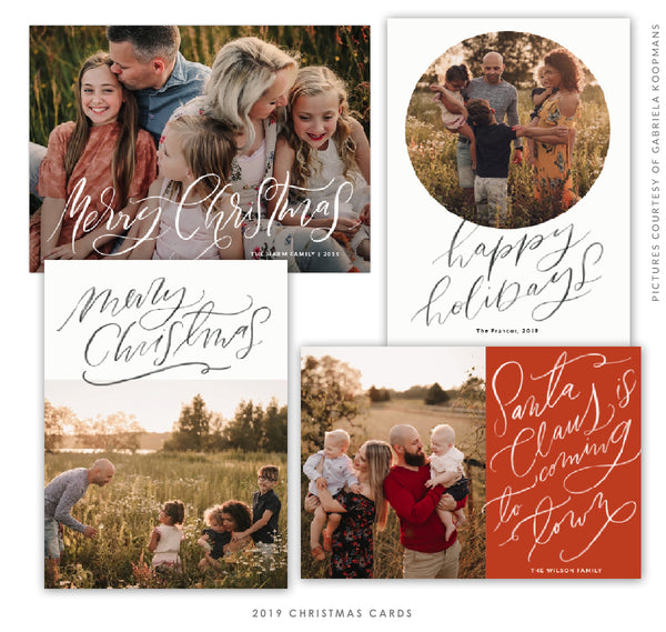 2019 Christmas 5x7 Photo Card Bundle | Christmas Vibes