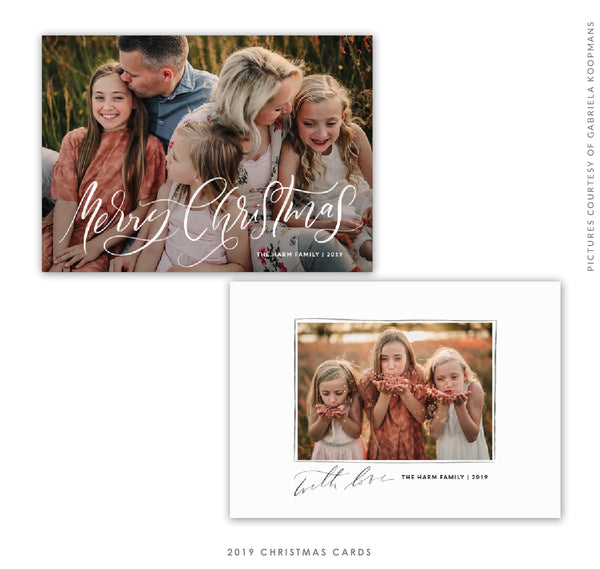 Christmas 5x7 Photo Card | Christmas Glitter