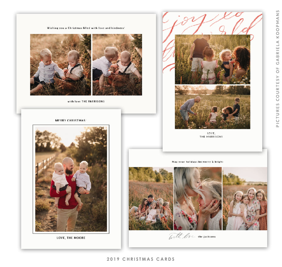 2019 Christmas 5x7 Photo Card Bundle | World Light