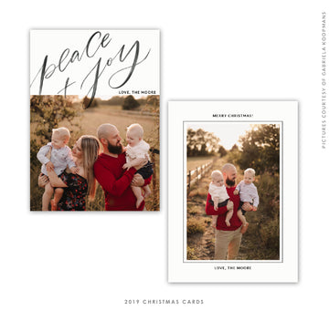 Christmas 5x7 Photo Card | Peace Letters